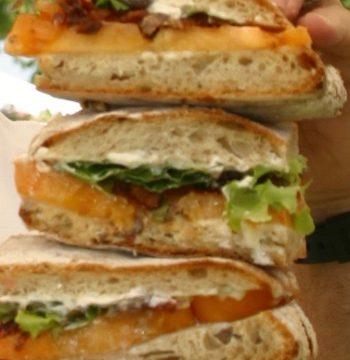 BLT Sandwiches stacked