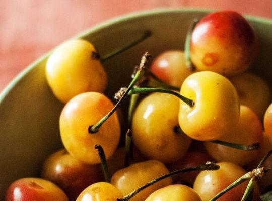 poached cherries
