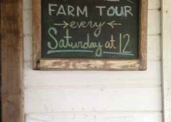 Farm tour sign