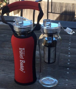Travels Buddy Water Bottle and Sleeve