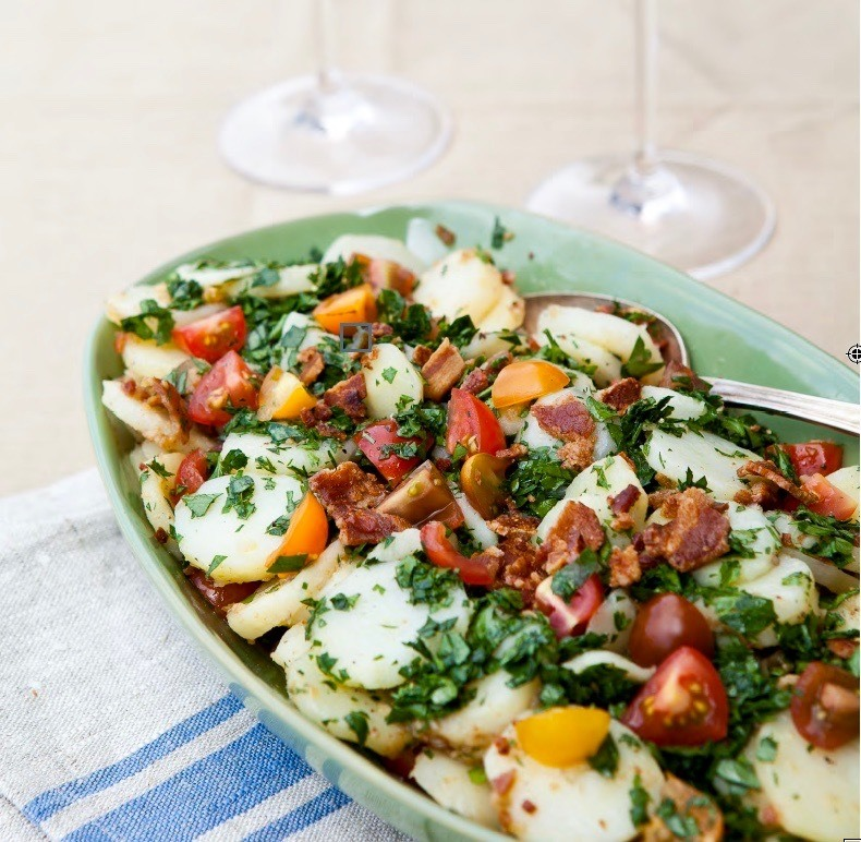 Potato Salad with Bacon and Tomatoes